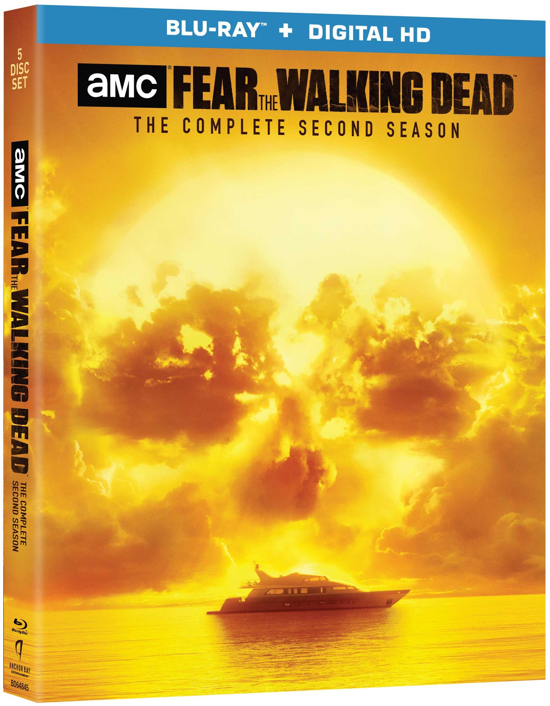 Fear The Walking Dead Season 2 Blu Ray Cover Side Screen